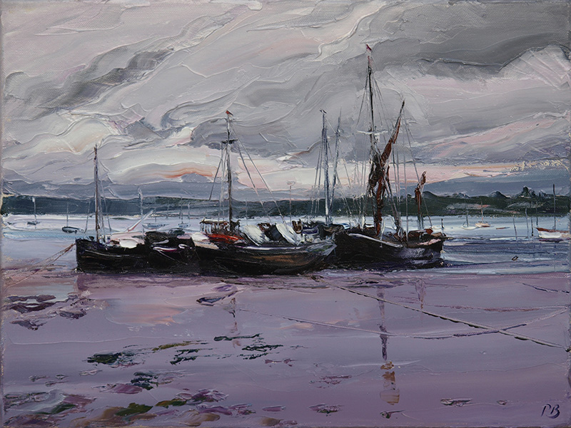 610 Pin Mill - Low Tide 30x40cm £1350